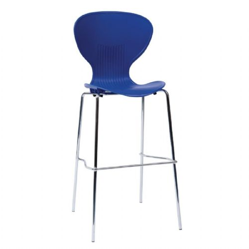 Bolero Stacking Blue Plastic High Stool (Pack of 4) - GP516